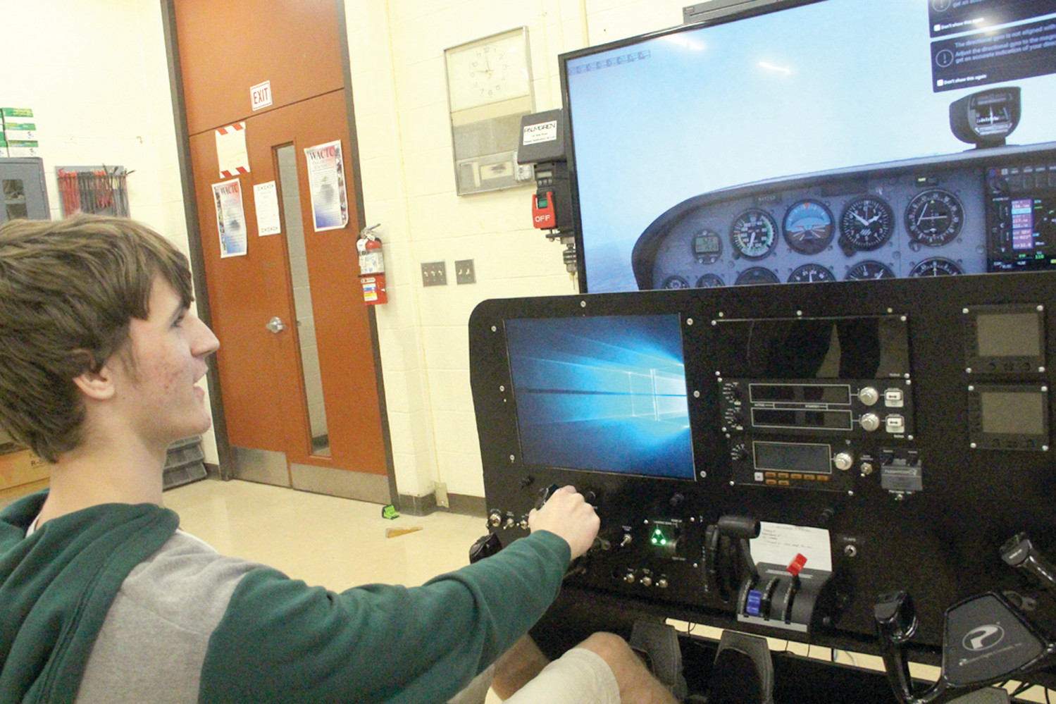 HE WANTS TO FLY: