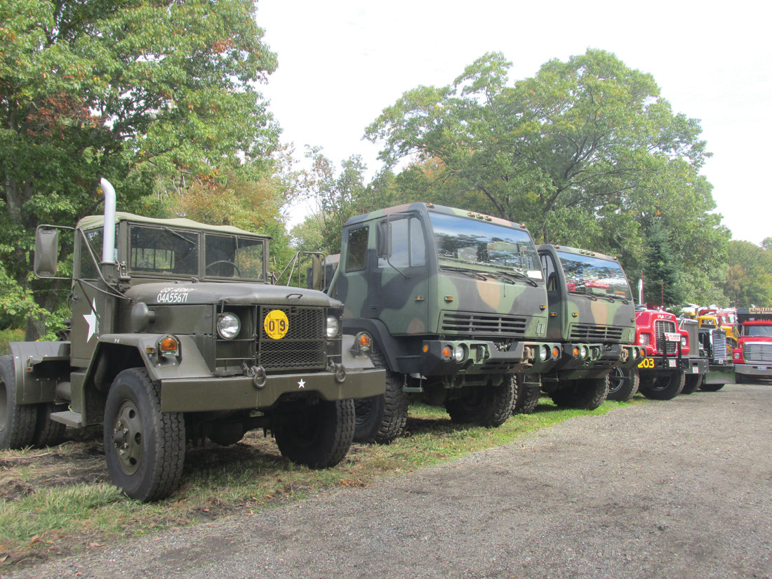 CLASSIC COLLECTION: These are some of the 60 former U.S. Army Vehicles that are owned by Johnston resident Wayne Martini that were on display Sunday at Rossi's Christmas Tree Farm in Cranston.