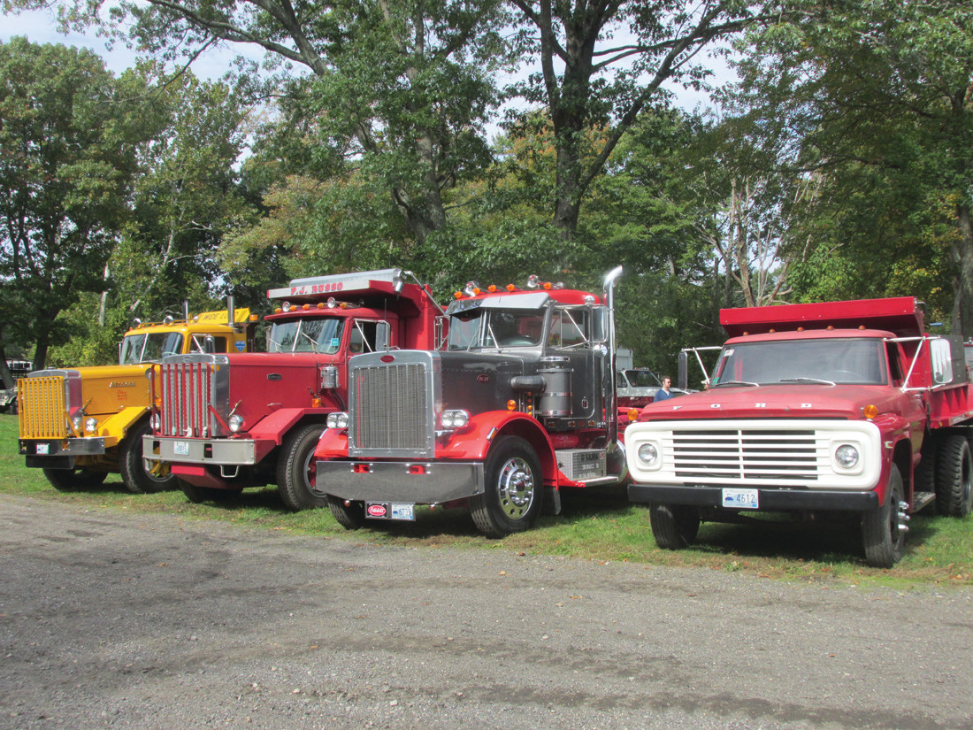 HEAVY HAULERS: This is just a sample of the many different trucks that were part of Sunday's Ocean State vintage Haulers Antique Show and BB in Cranston.
