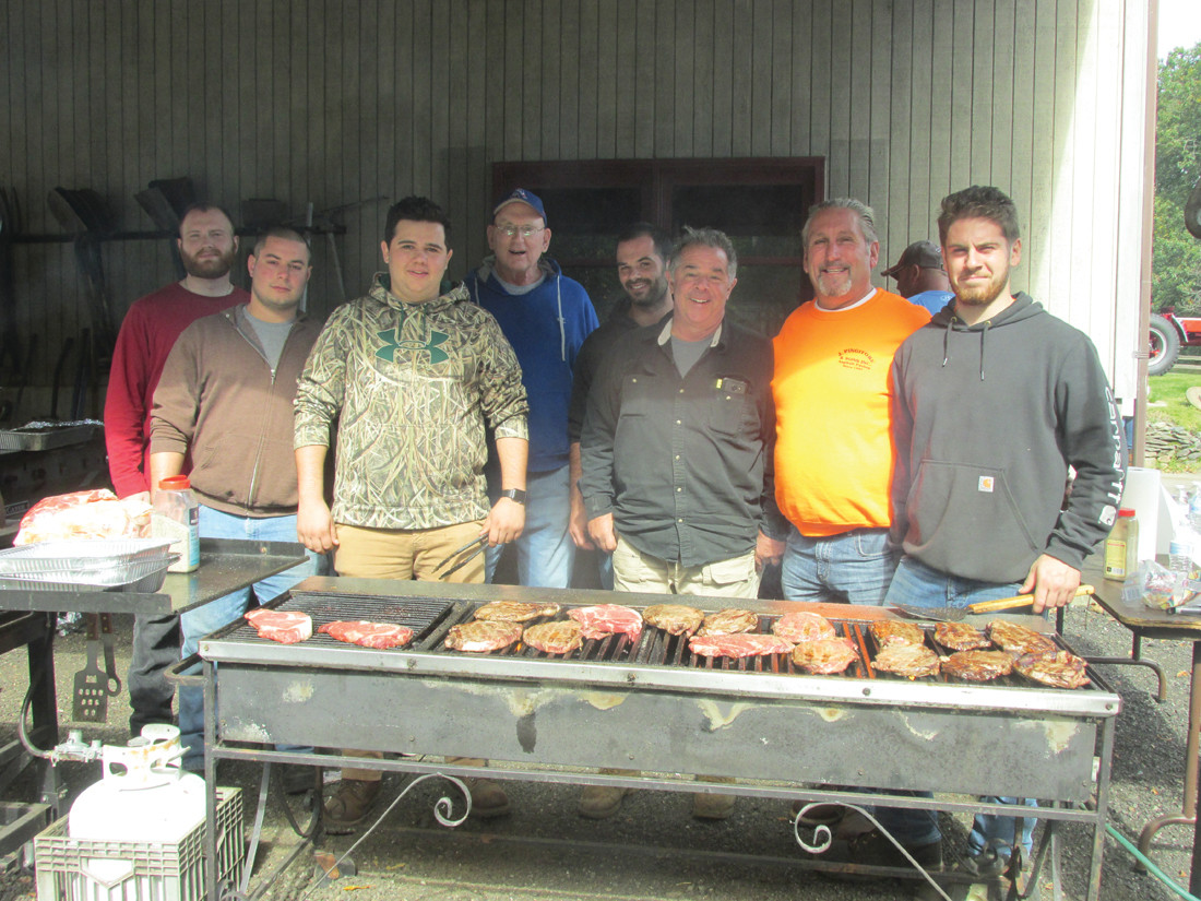 CLASSIC COOKS: Among those OSVH members who helped cook everything from sausage to hot dogs and hamburgers to one-pound sirloin steaks Sunday are: Brandon Elliano, M. DeGiulio, Andrew Rossi, Ron Rossi, Ben Devon, Rich DeFusco, Joe Pingitore and Jonathan Pingitore.