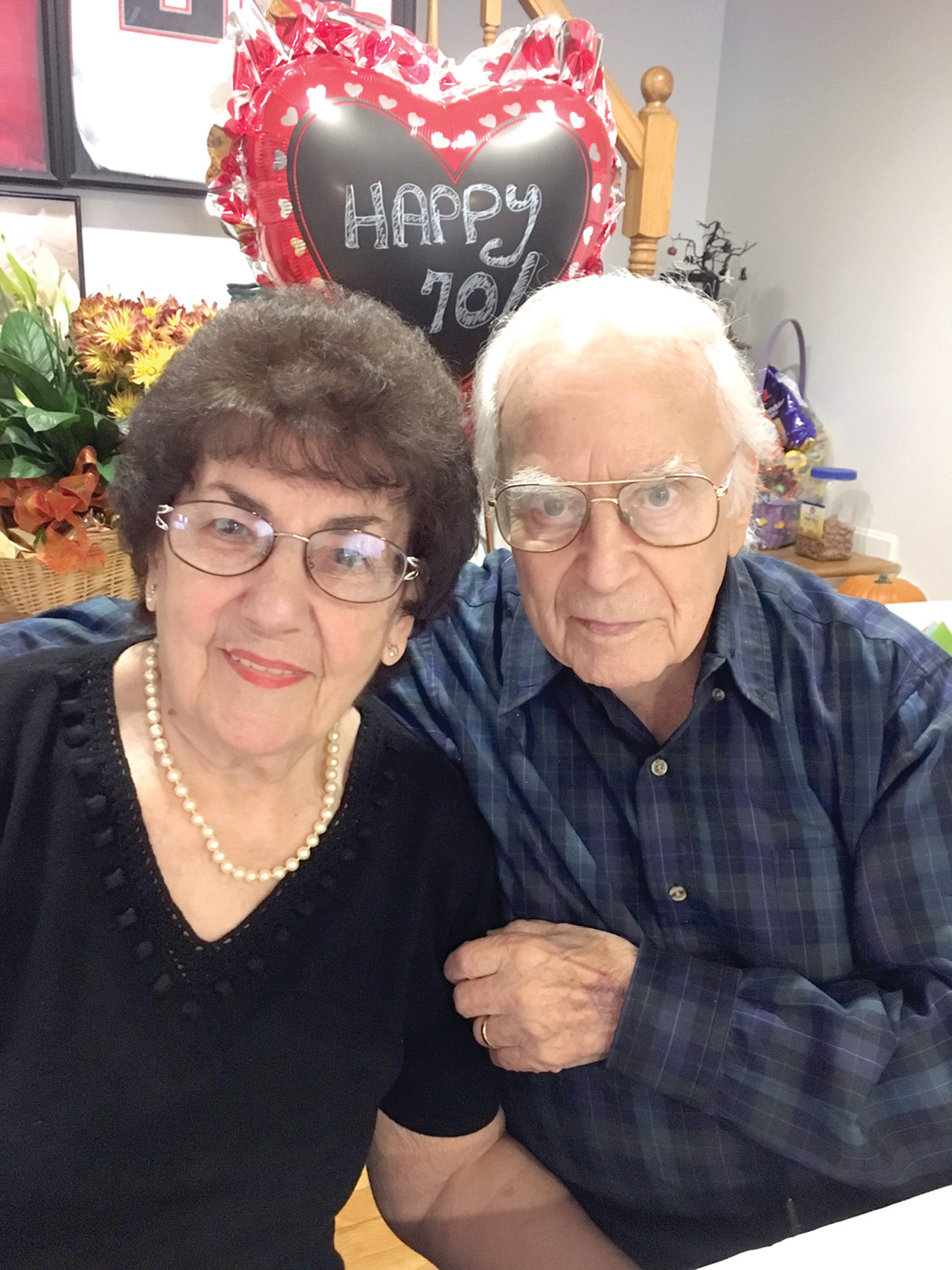 Edward (Eddie) Pannone, Sr., and Eleanor Pannone, who have lived in Johnston for the last 45 years, celebrated their platinum anniversary on October 12. The couple, along with their family, celebrated 70 years of wedded bliss at a party held on Monday last week. Eddie, who is a retired tailor and World War II Navy veteran, and Eleanor, who is a retired nursing assistant, have three children, five grandchildren, and a great grandchild who lives in California. We at the Sun Rise are inspired by their dedication to each other and wish them continued happiness as they celebrate their love and life together.
