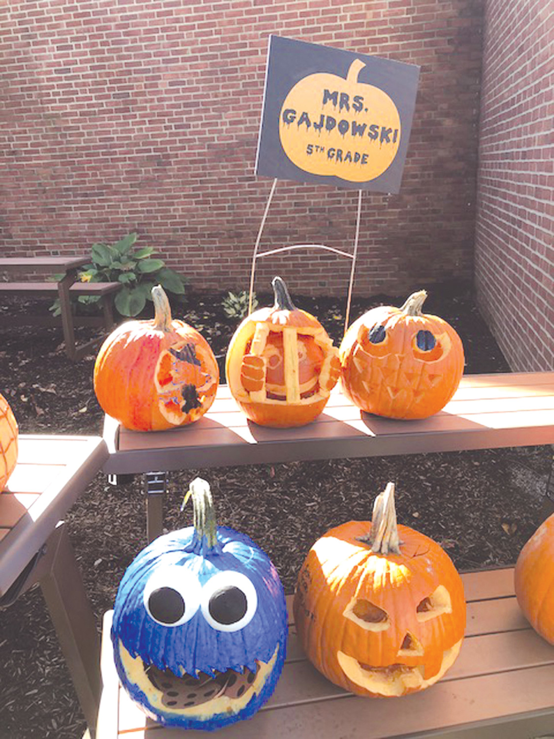 CLASSIC CARVINGS: One of the highlights of Winsor Hill School's annual Harvest Night is the always-creative carving of pumpkins.
