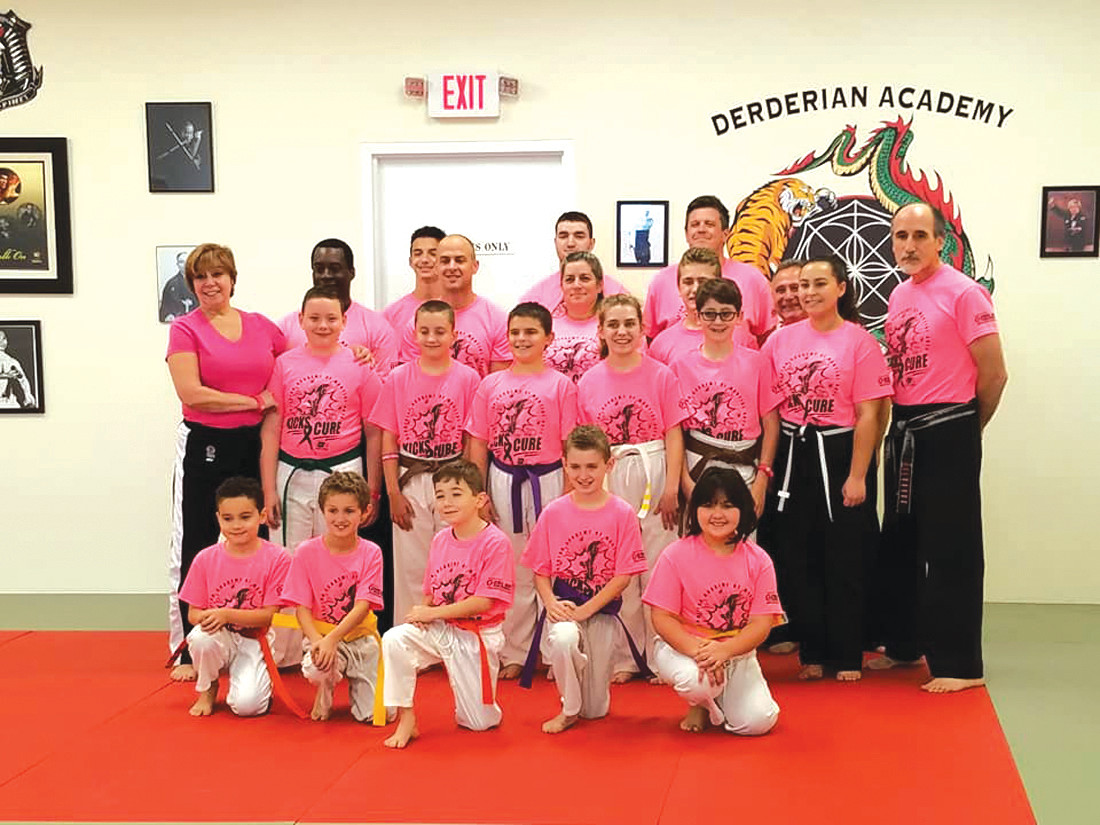 CLASSIC KICKERS: Meet the students and staff of Derderian Academy of Martial Arts in Johnston who Saturday raised $4,000 for the American Cancer Society during a fun-filled and entertaining Kick-A-Thon. (Submitted photos)