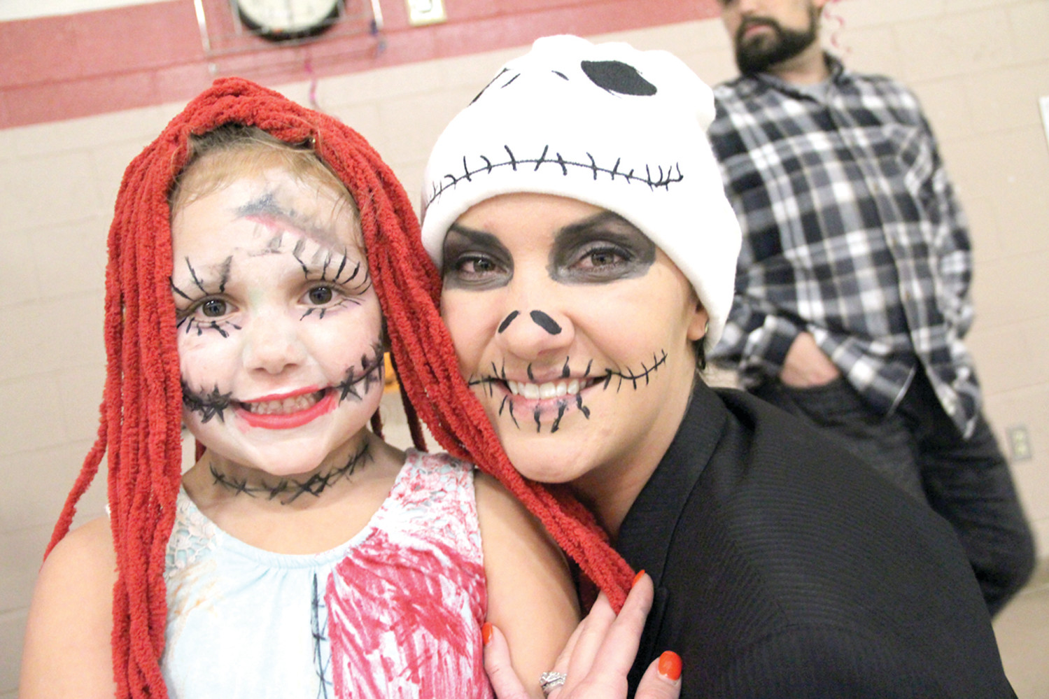 PARTNERS: Emily Zambrano and her daughter Carmella were made up for the dance.