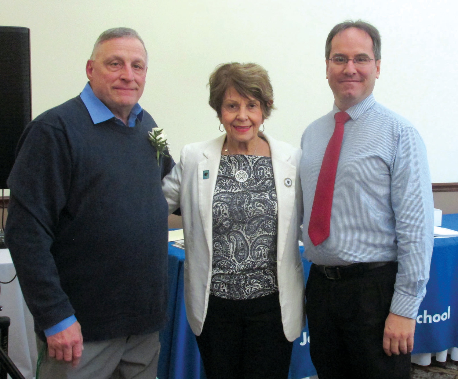 LIFETIME LINK: Don Iafrate, Class of 1967, is joined by Lee Mazzie, and athletic director Gary V. Mazzie. (Photo by Pete Fontaine)