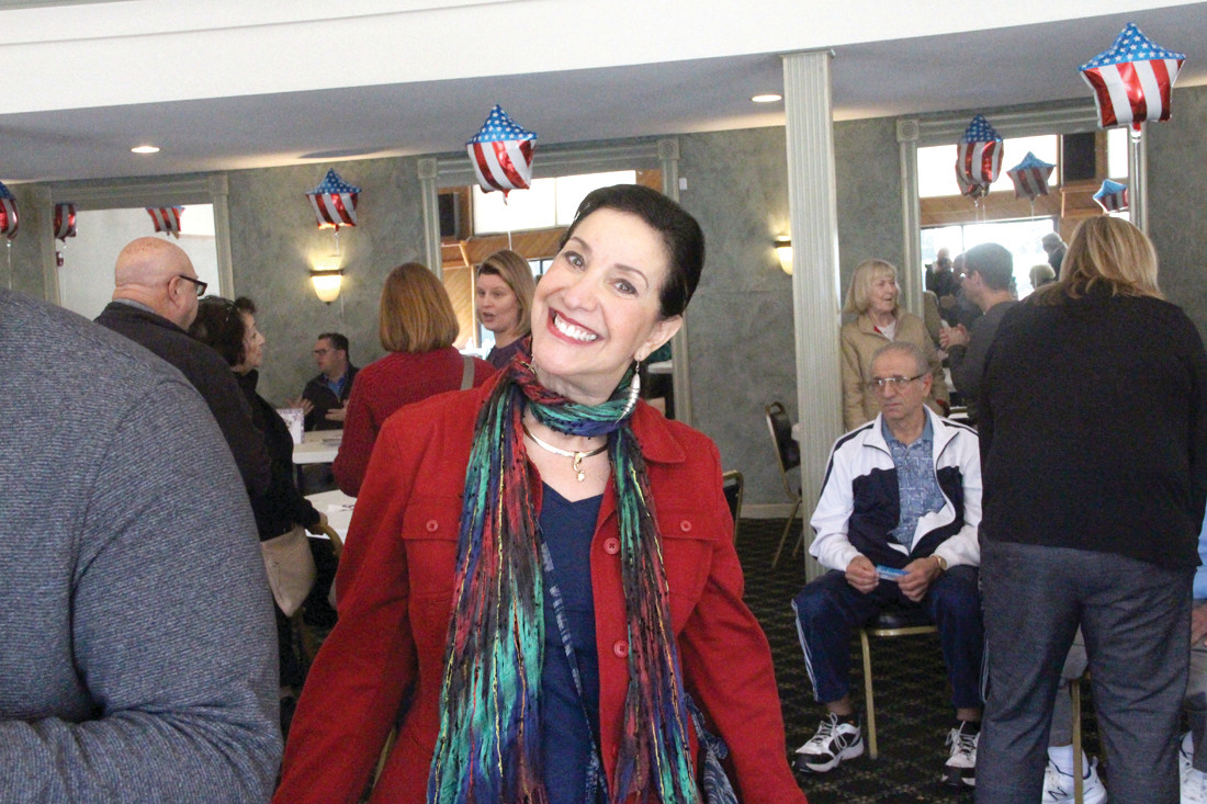 HER IDEA: Wethersfield resident Debbie Rich coordinated the candidates fair held Saturday at the condominium complex.