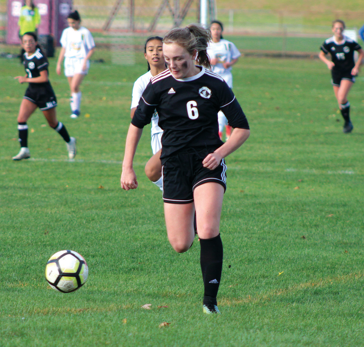 PLAYOFF SOCCER: Pilgrim's Lily Brown.