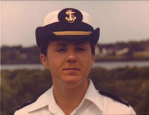 Camille Vella-WIlkinson during her days in the United States Navy.