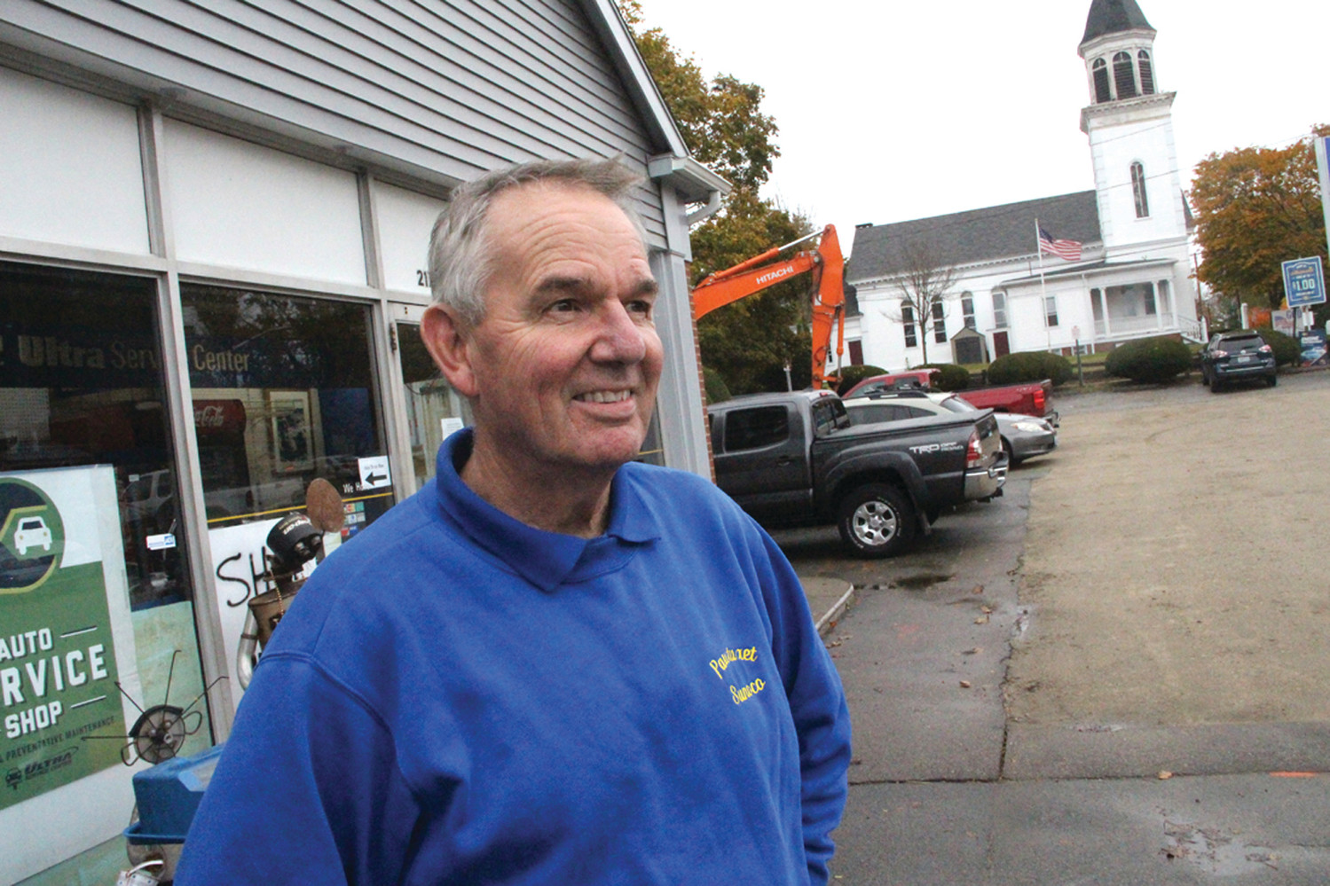 A SLOWER PACE: With the removal of pumps, Pat Grogan, who opened Pawtuxet Sunoco 43 years ago, looks forward to continuing to play a role as part of the community as Pawtuxet Auto service.