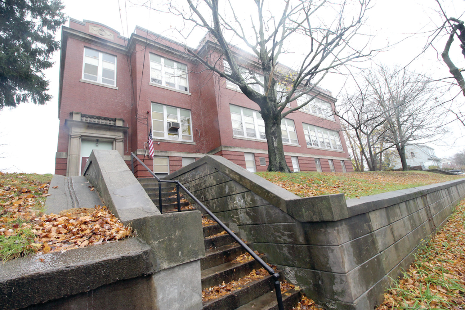 RECOMMENDED FOR CLOSURE: The future of Chester Barrows School in Edgewood was among issues to be discussed Wednesday at a joint meeting of the City Council and School Committee.