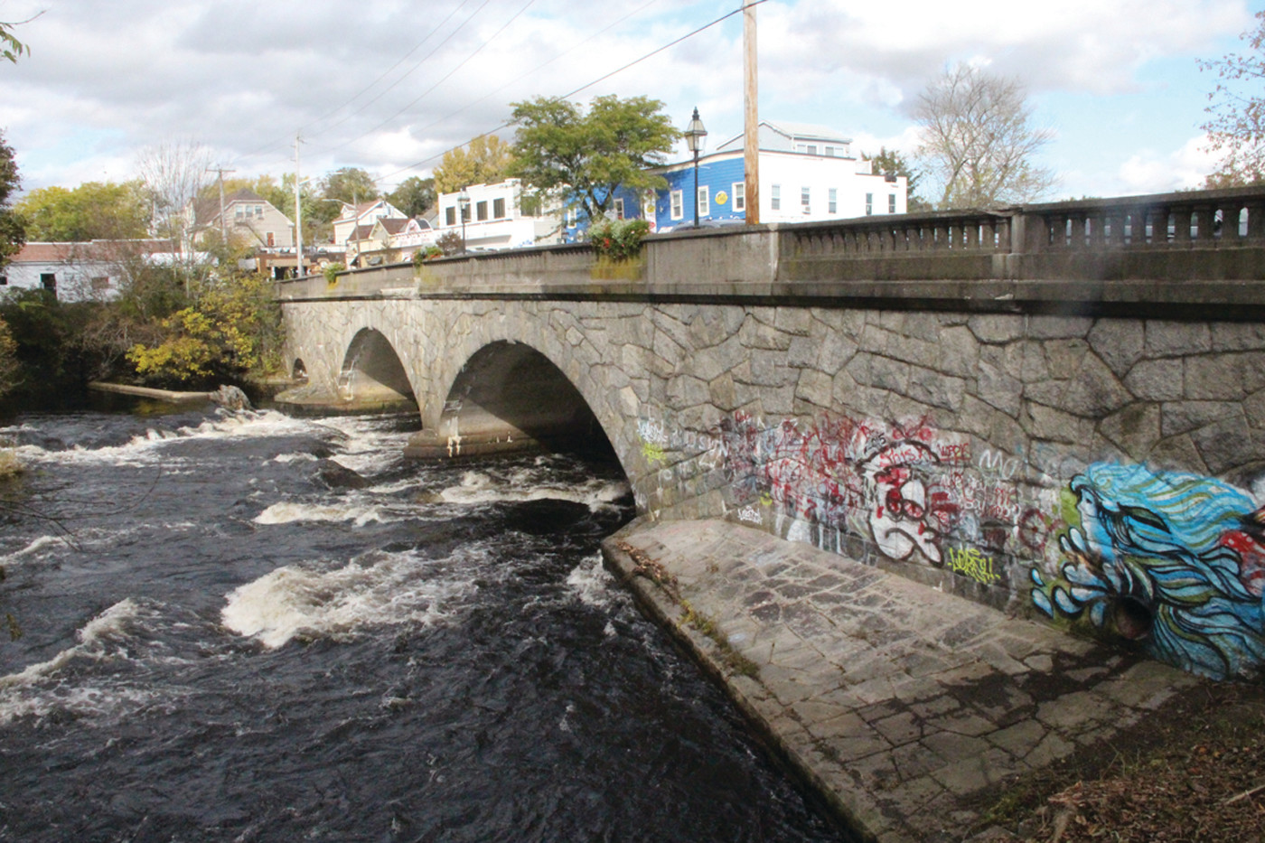 "TIME FOR SOME ATTENTION: The state is slated to make repairs to the Pawtuxet bridge in 2022 under a project billed as ""preserving"" the more than 100-year old structure. (Warwick Beacon photo)"