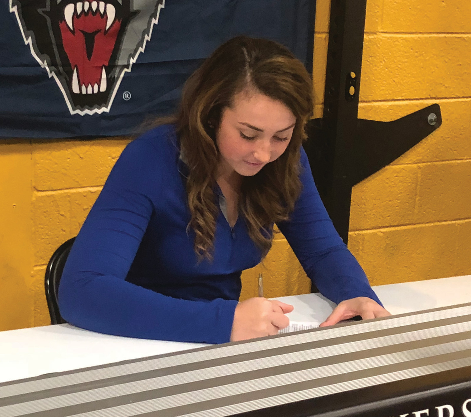 THE NEXT STEP: Pilgrim's Caitlyn Fallon signs her National Letter of Intent.