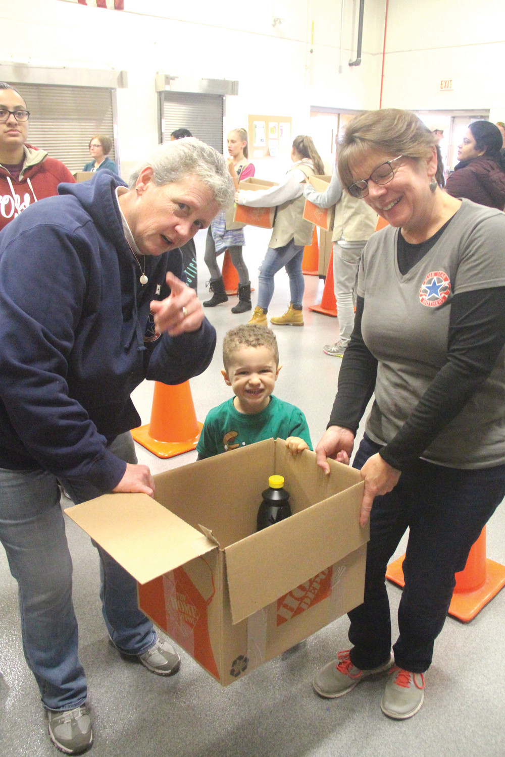 NEVER TOO YOUNG: This was the second year for Rylan Sroka to participate in the program. He was there with his cousin, Rhonda Zoiehl of Coventry, and Denise Marcinko of Cranston.
