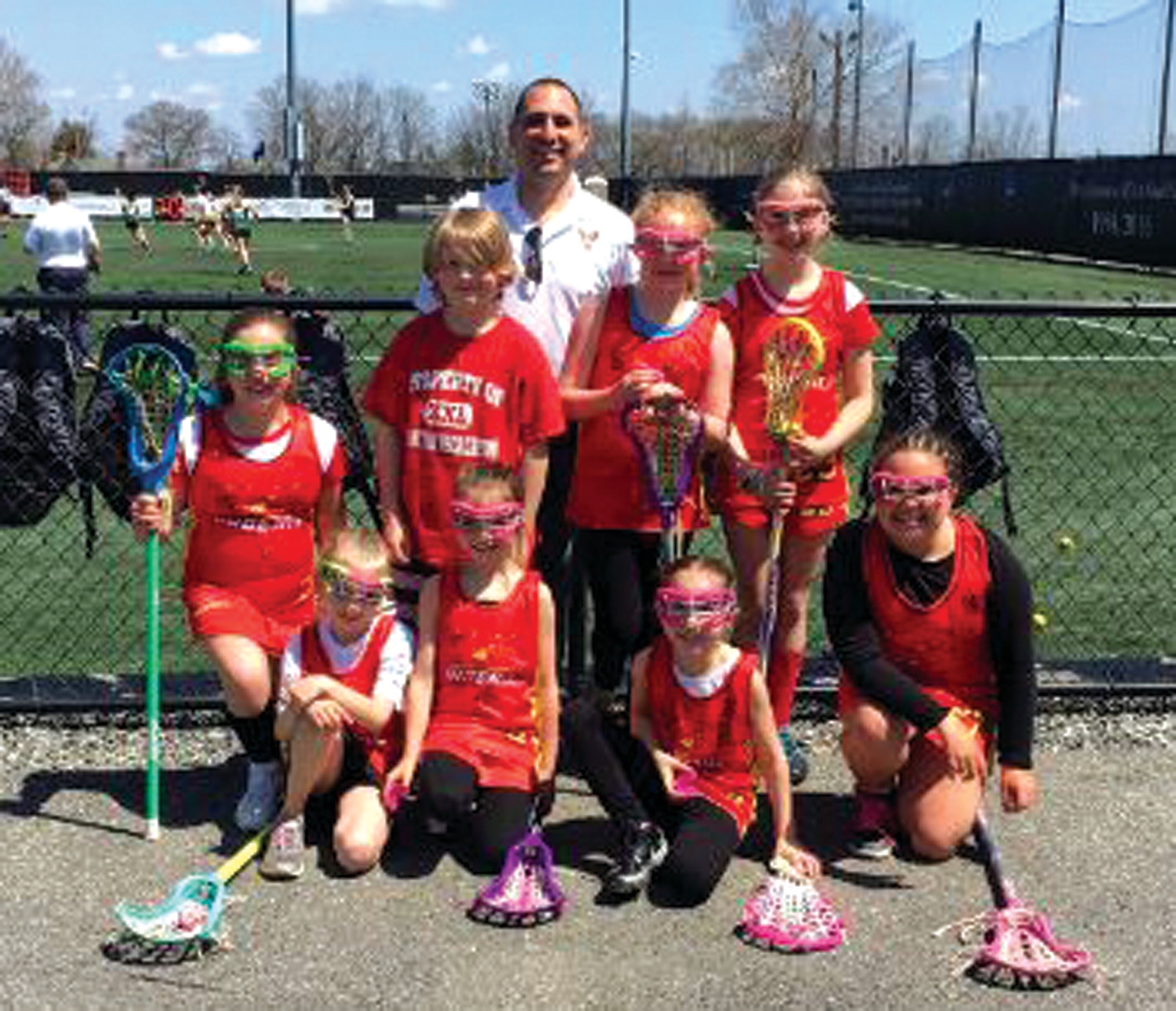 SUPER SQUAD: The Cranston Youth Lacrosse girls 3rd-4th grade team.