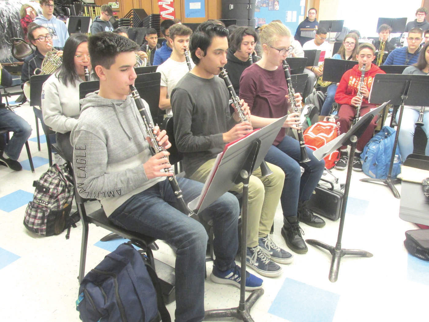SPECIAL SOUNDS: JHS clarinetists Josh Brien, Victor Fragoso and Ashlyn Bann are among those prolific performers who'll participate in next Thursday's (December 13) Holiday Concert that will begin at 7 o'clock in the school's auditorium.