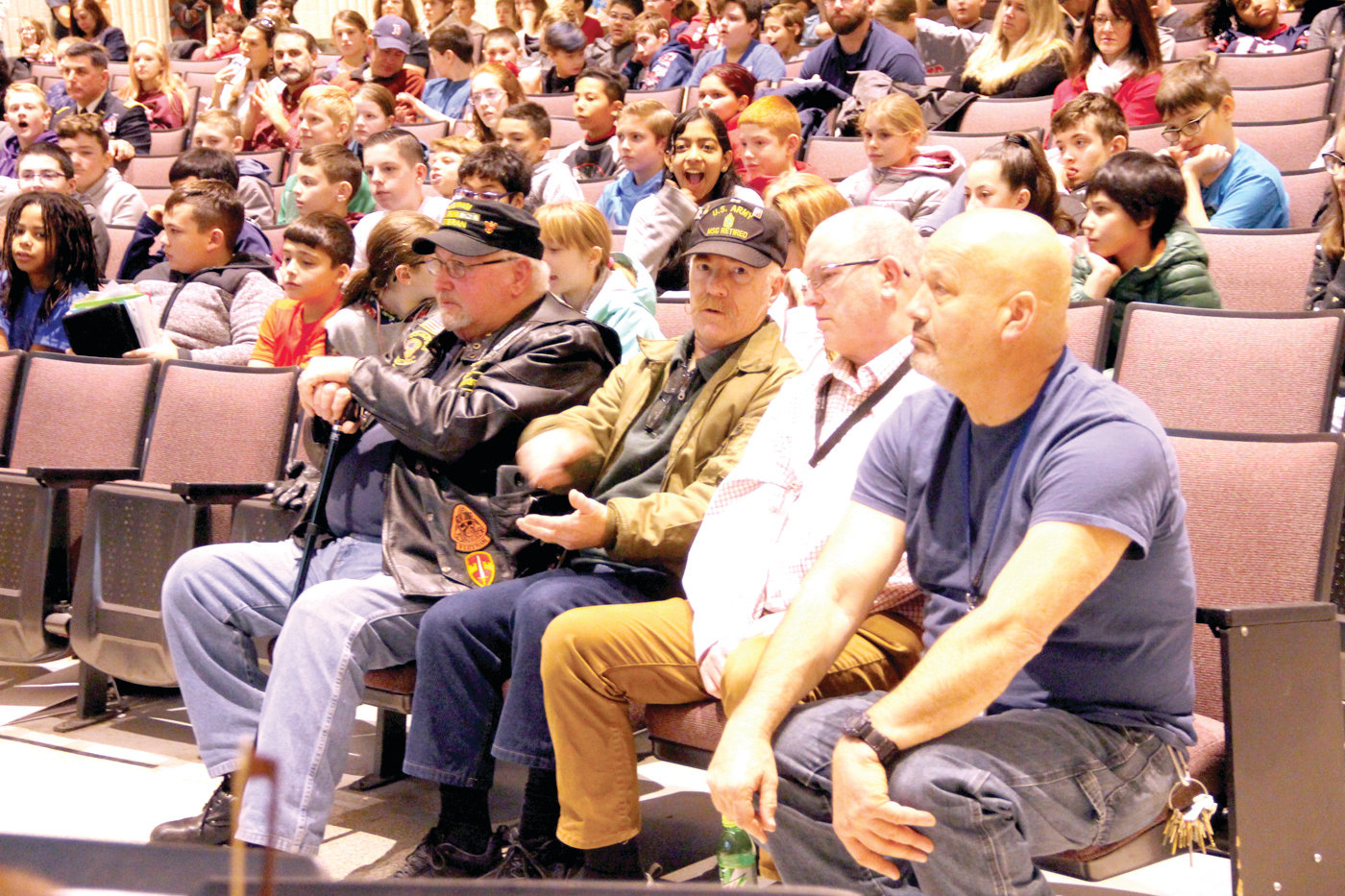 IN THE FRONT ROW: Veterans were given a front row seat at the Winman ceremony.