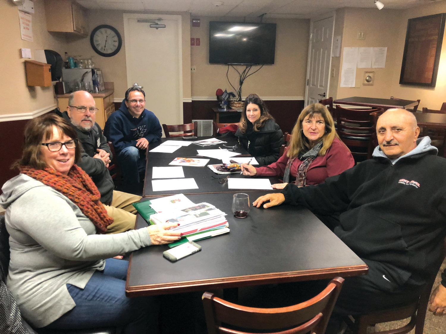 POLAR PALS: These are some of the people planning the 5th Annual New Year's Day Polar Golf Tournament that will tee off at 10 o'clock on January !, 2019 at Glocester Country Club. The group includes, from left: Linda LaFazia, David Graham, Dewey Uriati, Tracy Uriati, Judi Graham and Vin LaFazia.