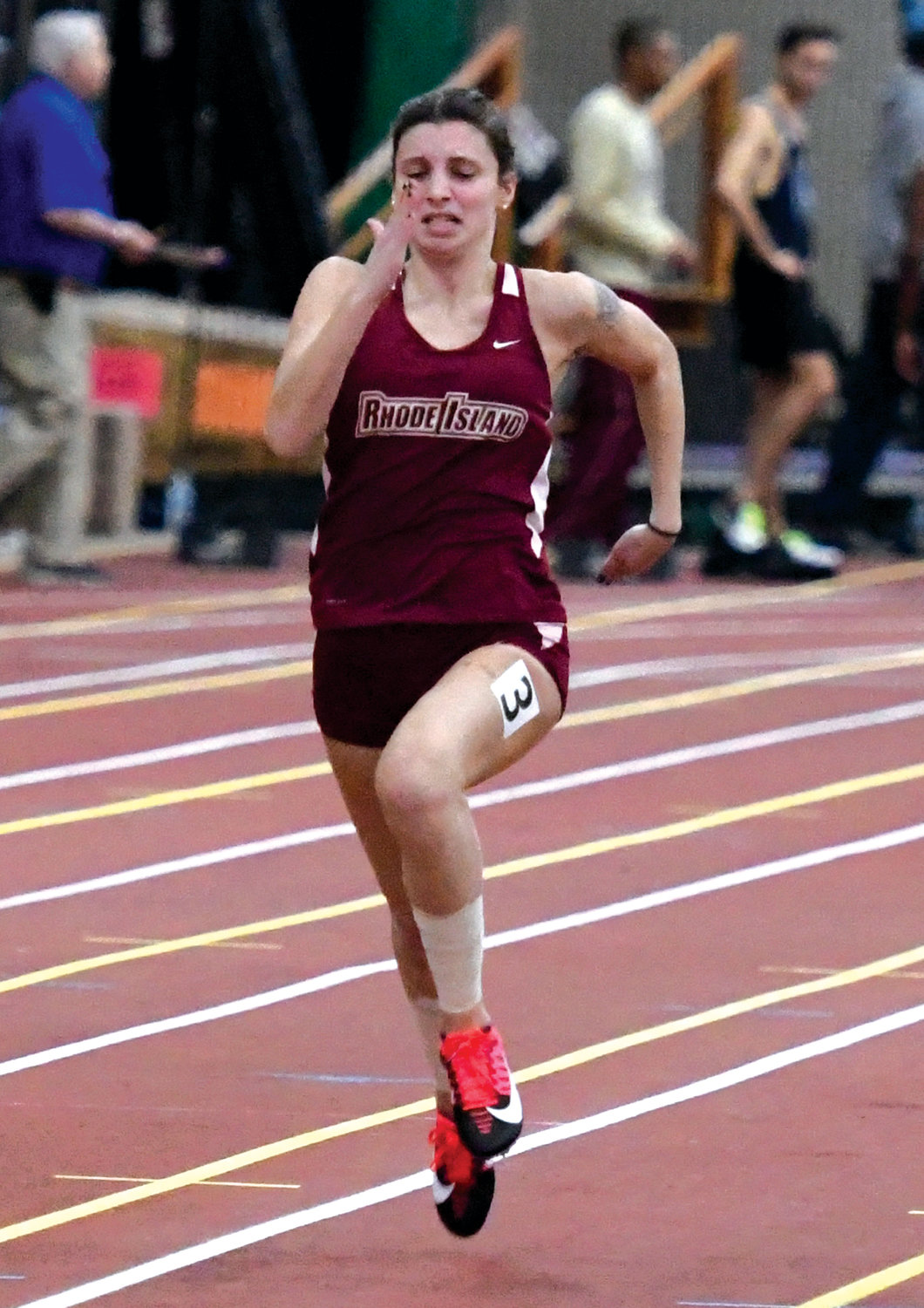 ON THE TRACK: RIC's Emma Landroche competes this season.