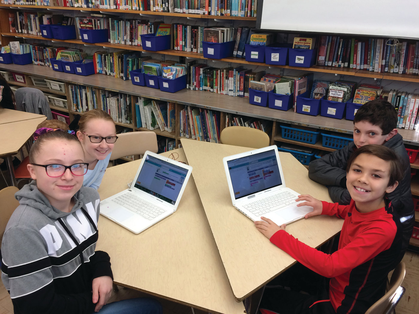 WIZ KIDS: Woodridge students enjoy computational thinking challenges, which are now second nature to them.