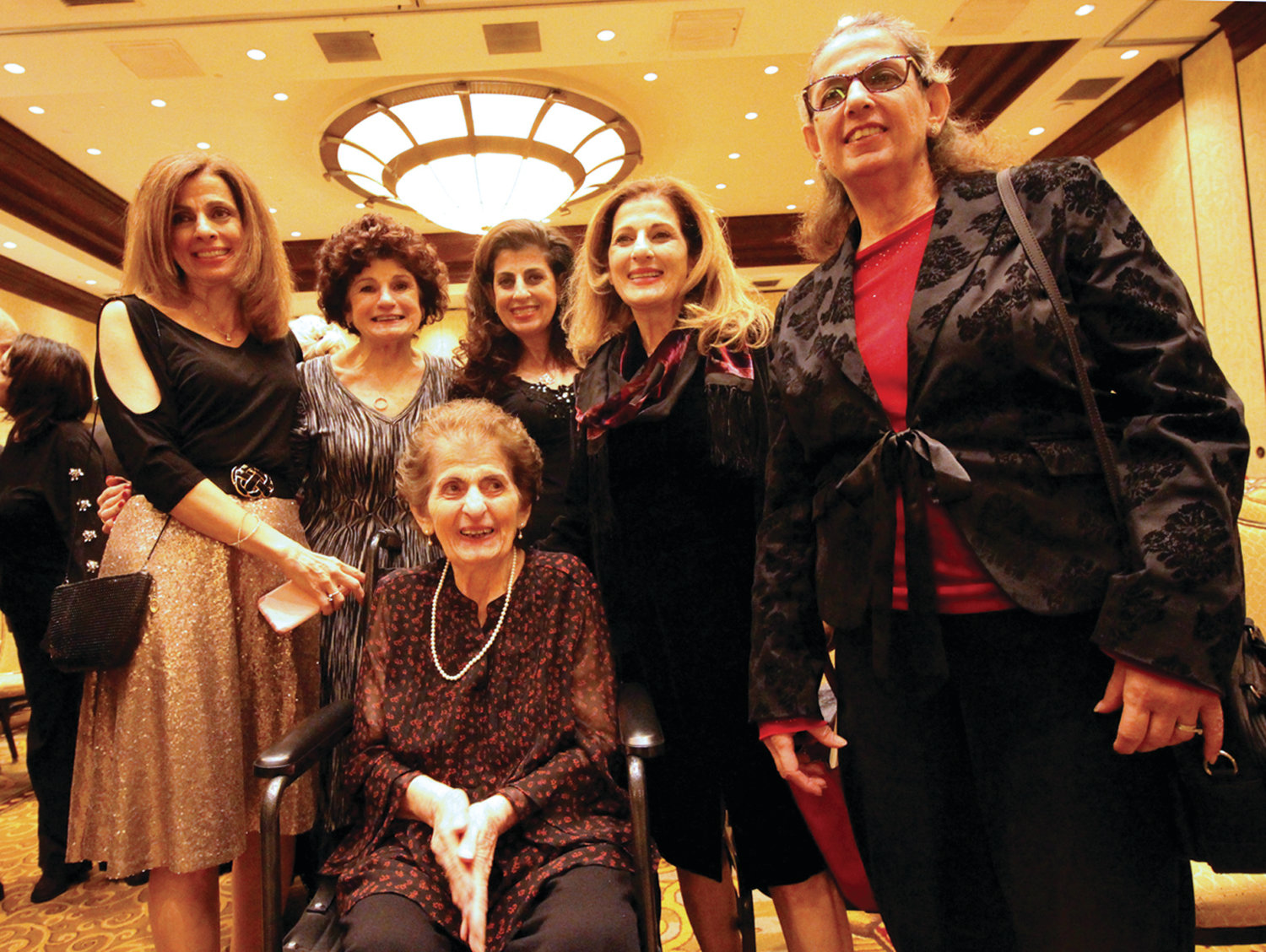 FAMILY MATRIARCH: The mayor's mother, Rose Solomon, is surrounded by her daughters (from left) Linda Maroun, Rosemarie Fontaine, Marilyn Solomon-Bruzzese, Carol Paiva and Nancy Armoush.