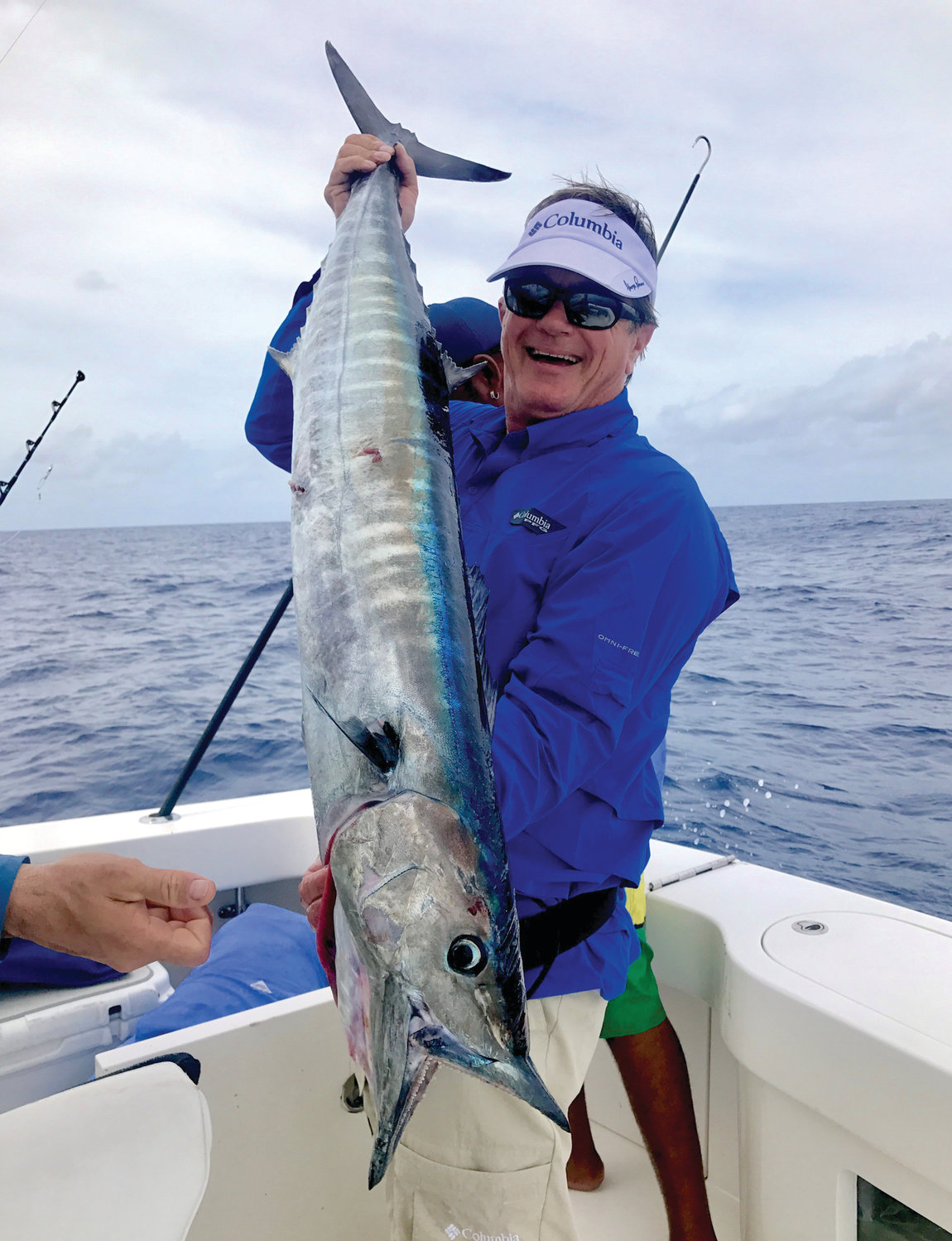 WHAT'S THE CATCH: Seminar Series host George Poveromo with a Wahoo.  With warming water Wahoo are now being targeted and caught off Rhode Island. The Seminar comes to Providence, January 26. (Submitted photo)