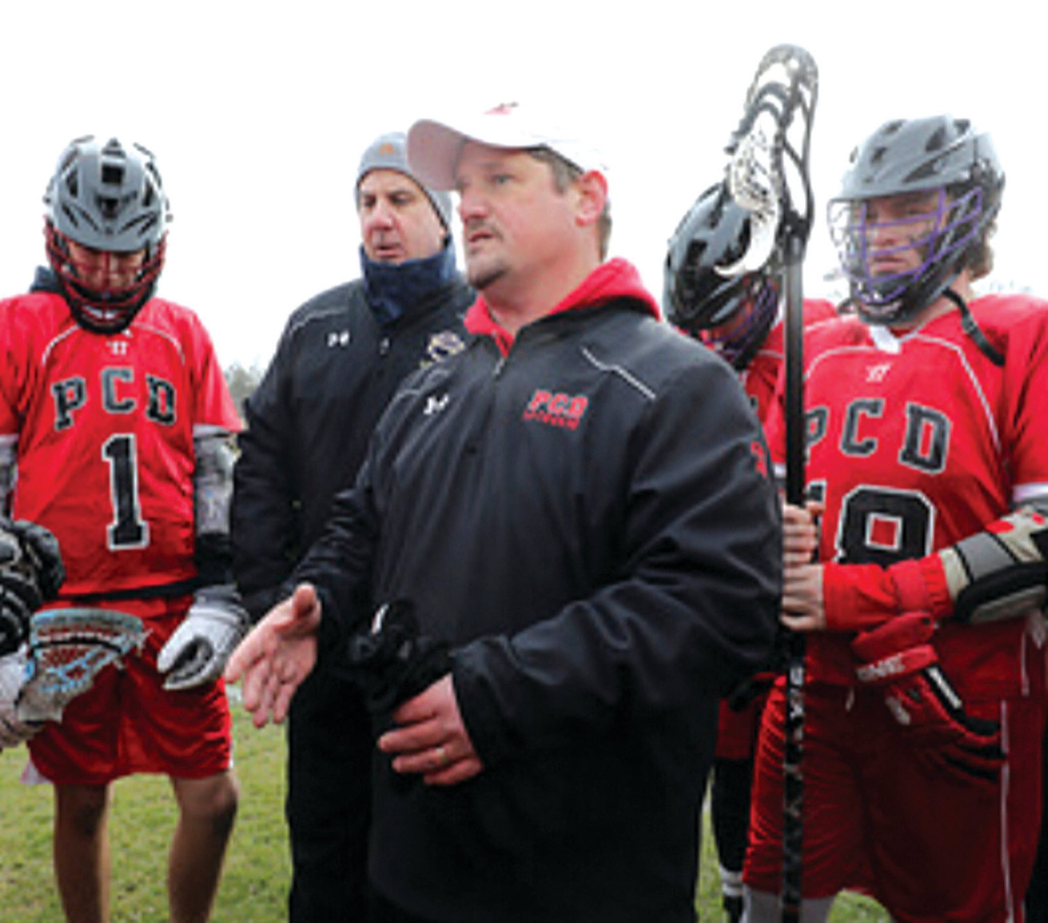 NEW LEADER: Pete Kelleher coaching the Providence Country Day boys lacrosse team.