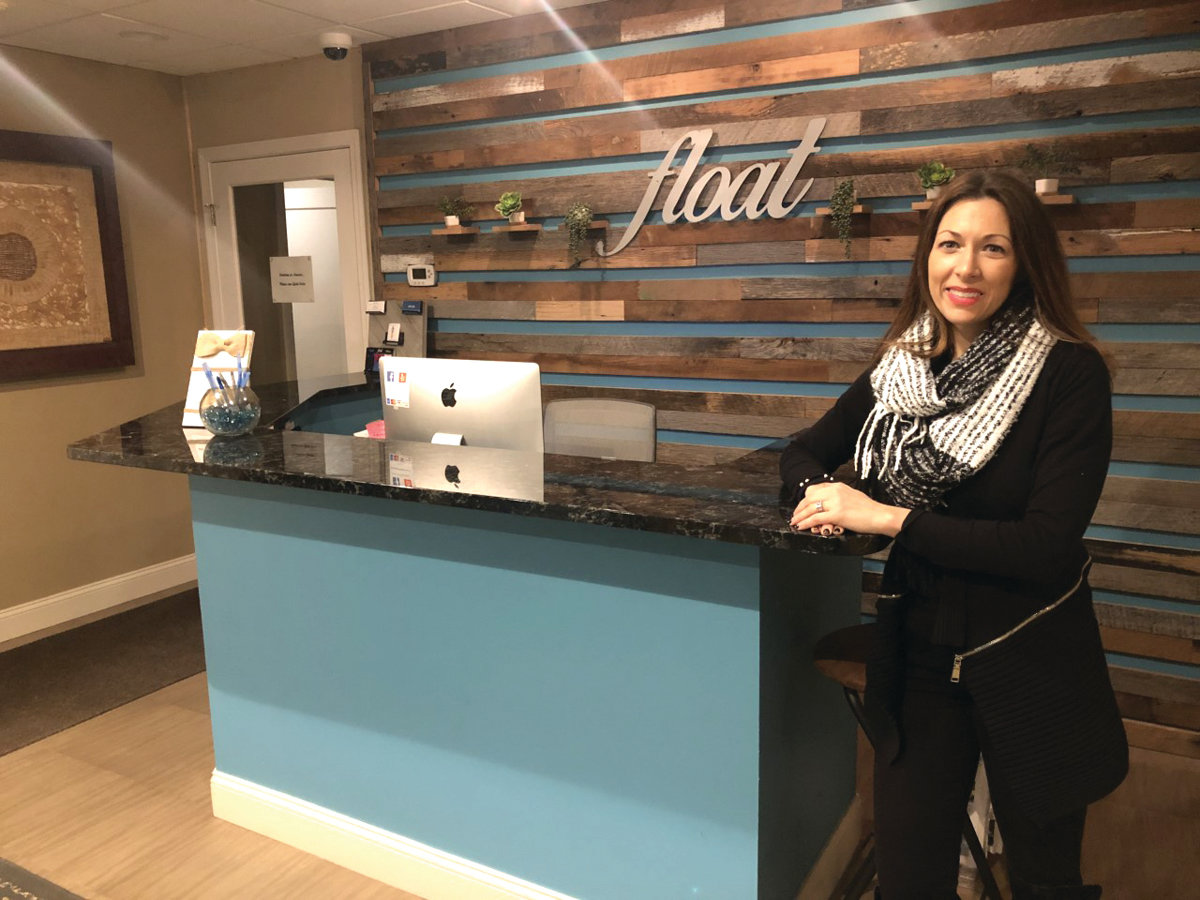 "Meet Letitia Latek, the owner of ""Float"", Warwick's own holistic wellness center on Post Road. To address the connection between our minds, bodies and souls, her center offers floatation therapy, Reiki and meditation services, massage, aura photography and a boutique personal training studio."