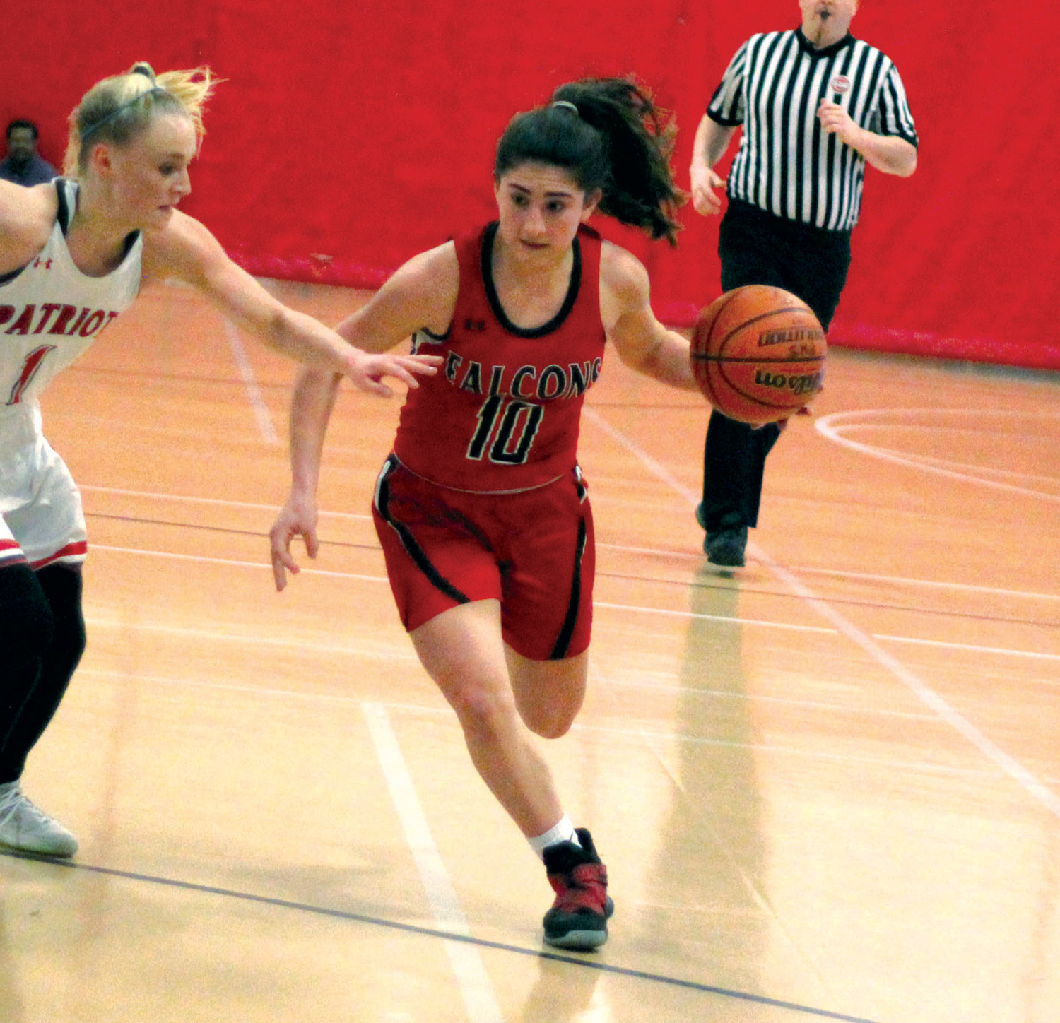 THROUGH TRAFFIC: Cranston West's Maddie Alves.