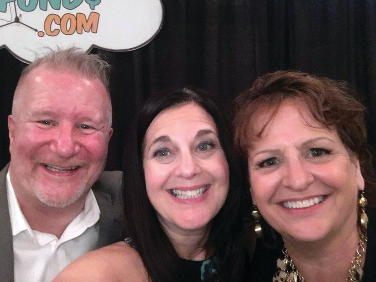 BRINGING THE FUNNY: Mike Cronin, left, and Mary Ellen DePetrillo Rinaldi, right, are both part of Funny 4 Funds' new Christian Comedy Division. They are pictured with comedian Rhonda Corey at Sacred Exchange Fellowship in this September 2018 photo.