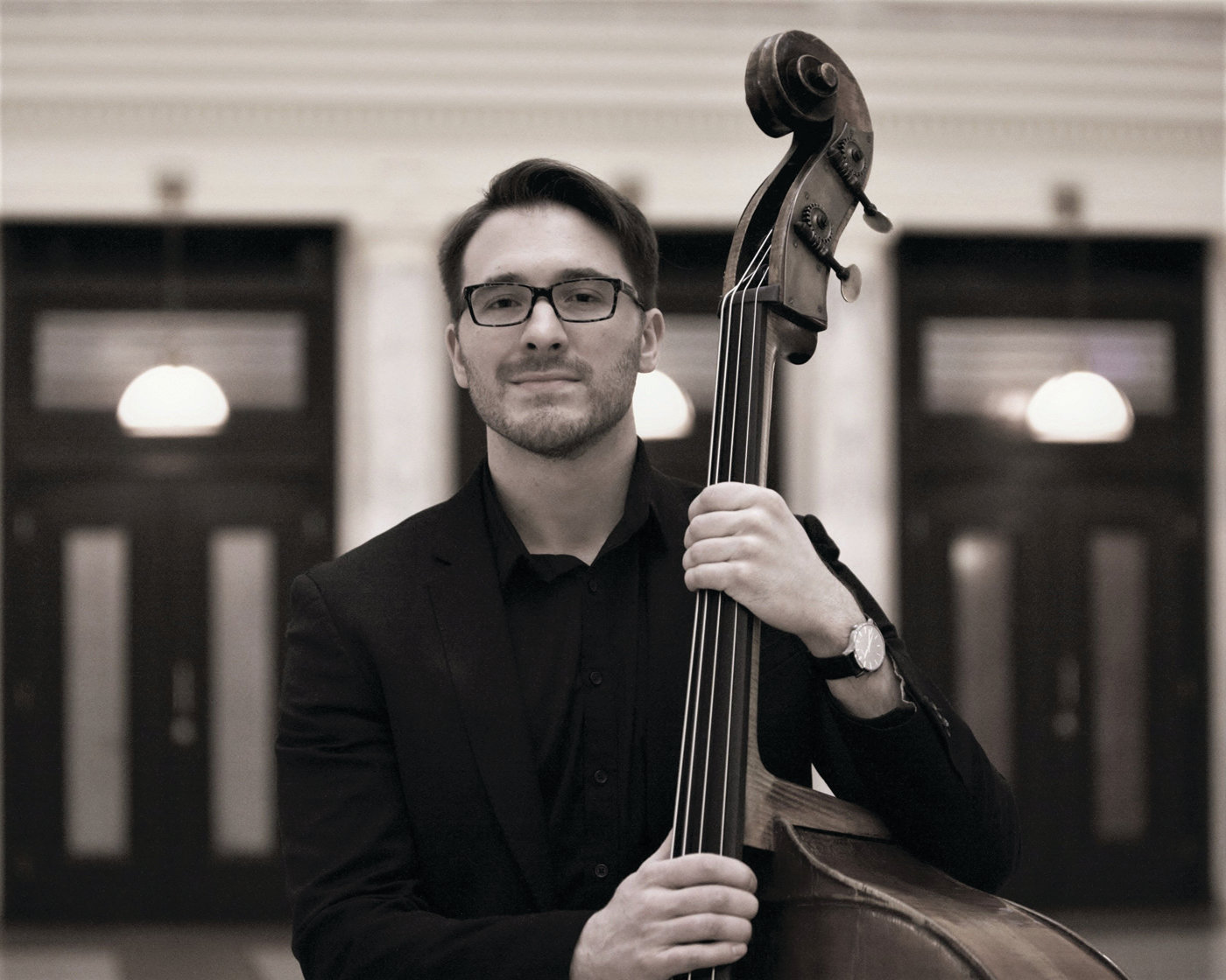 MUSIC FOR THE COMMUNITY: Joseph Bentley, bassist, will be among the performers taking the stage at the McVinney Auditorium in Providence on March 3.