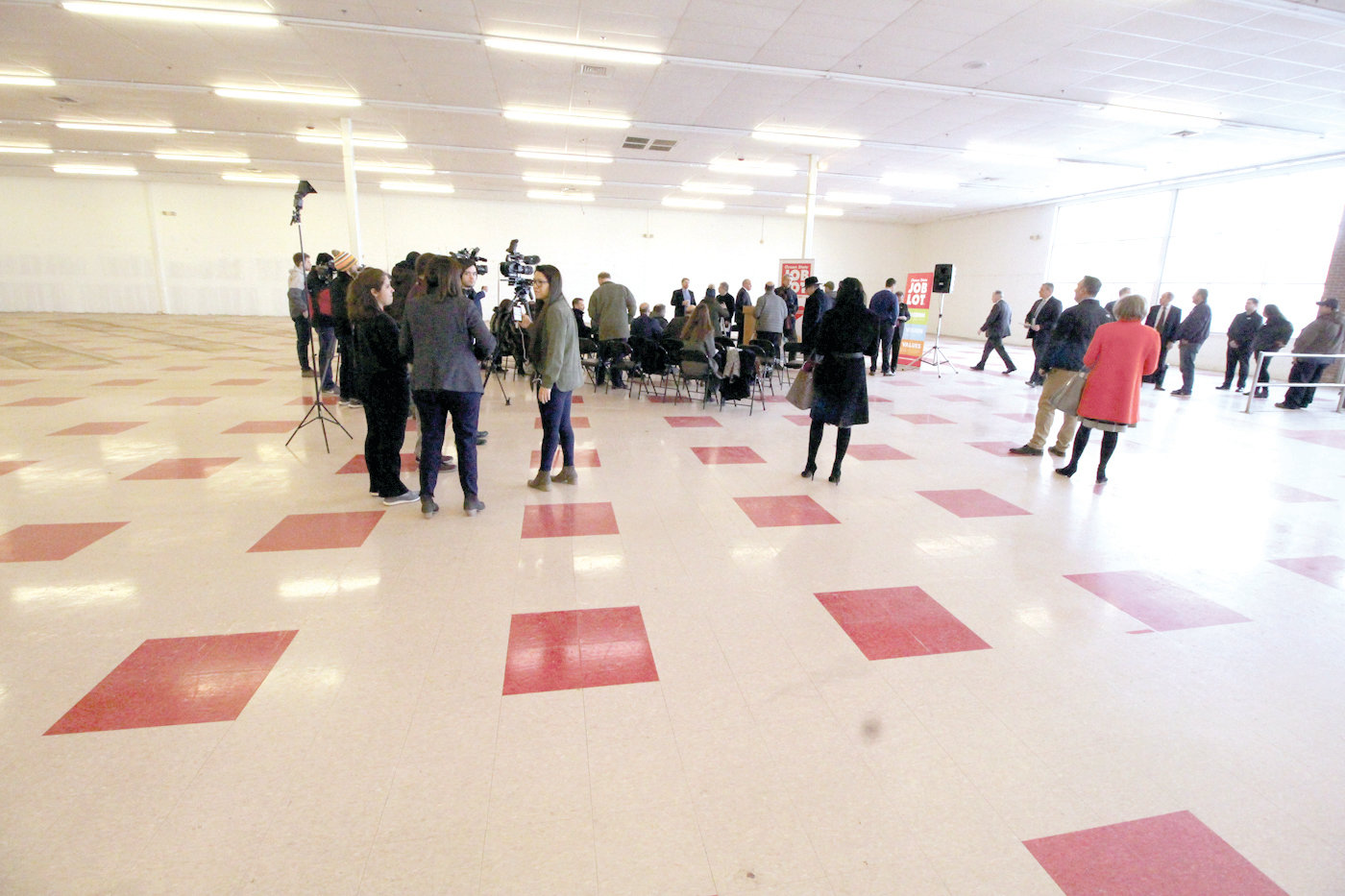 LOTS OF SPACE: The cavernous former Benny's store on Atwood Avenue in Cranston was the site for Wednesday's announcement that three of the former Rhode Island Benny's stores will become Ocean State Job Lot stores.