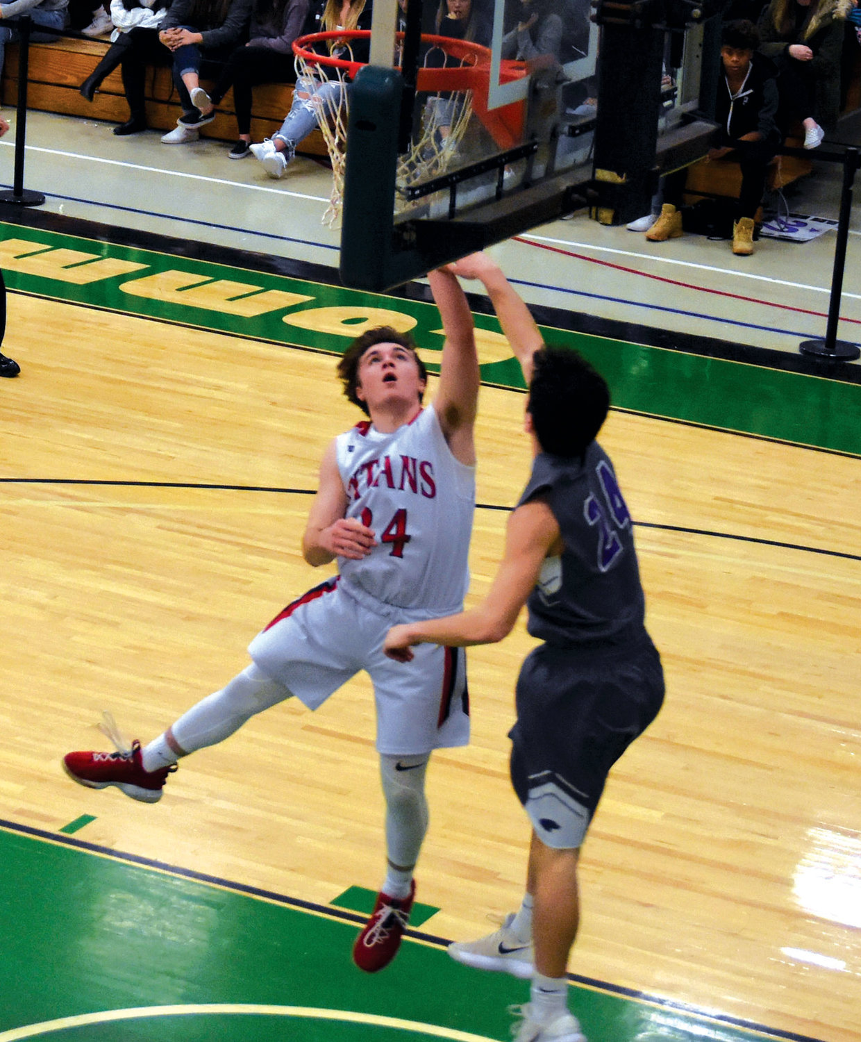 LAYUP: Toll Gate's Austin Noon goes for a layup against Mt. Hope.