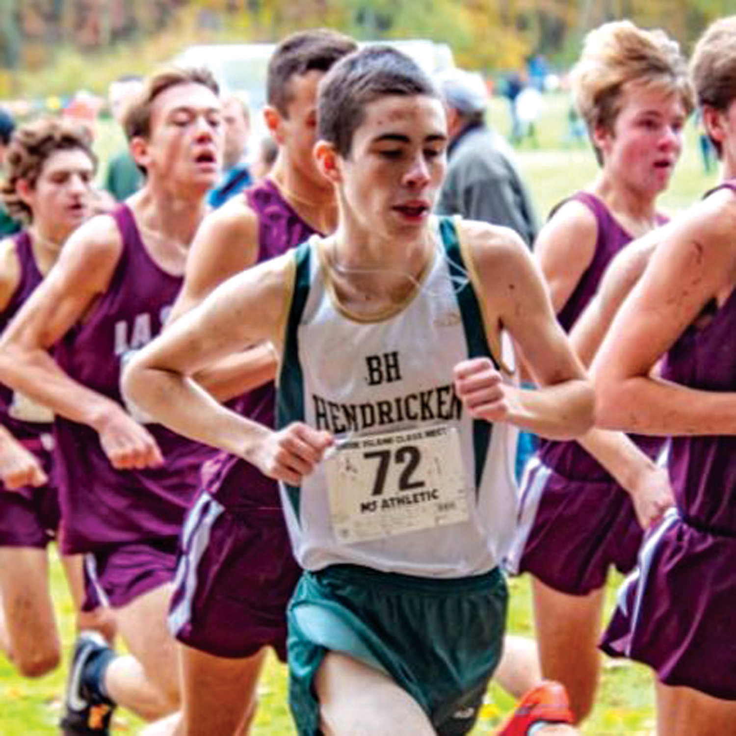 ON THE RUN: Bishop Hendricken's Jack McMahon during the 2018 season.