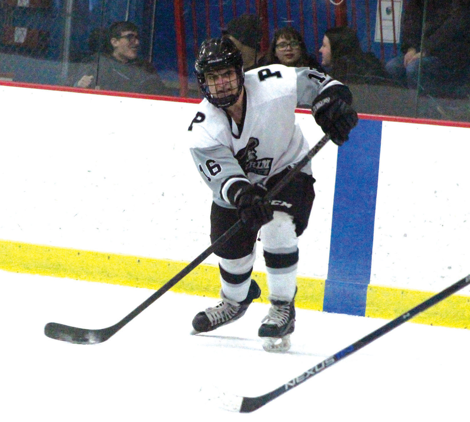 ALONG THE BOARDS: Pilgrim's Chris Quirk.