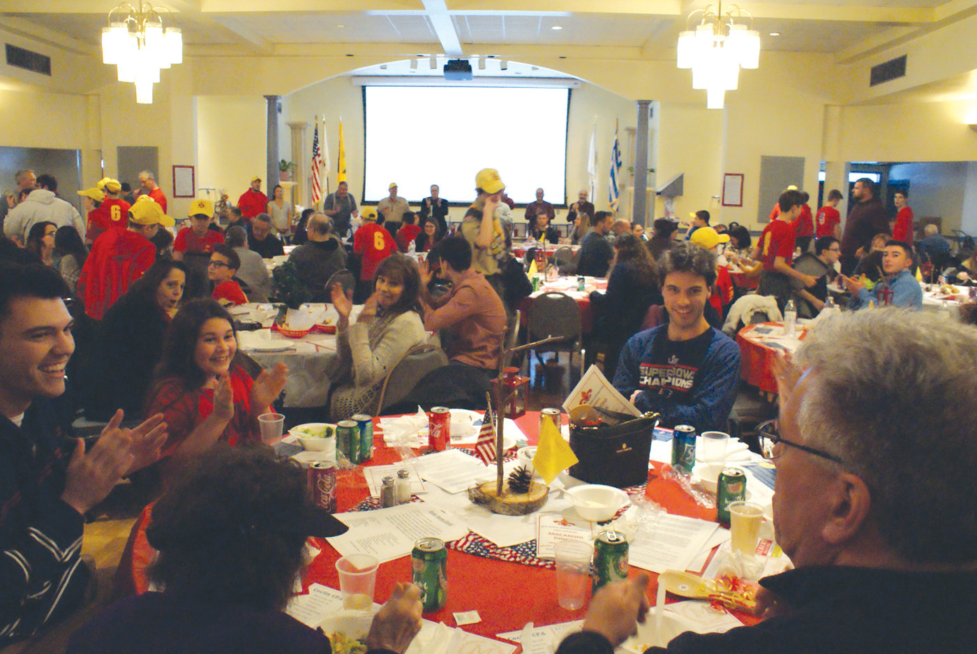 PACKED HOUSE: It was a full house during Troop 6 Cranston's 28th annual Macaroni Dinner on Sunday. Scouts not only planned the event, but they also served food for approximately 300 visitors.