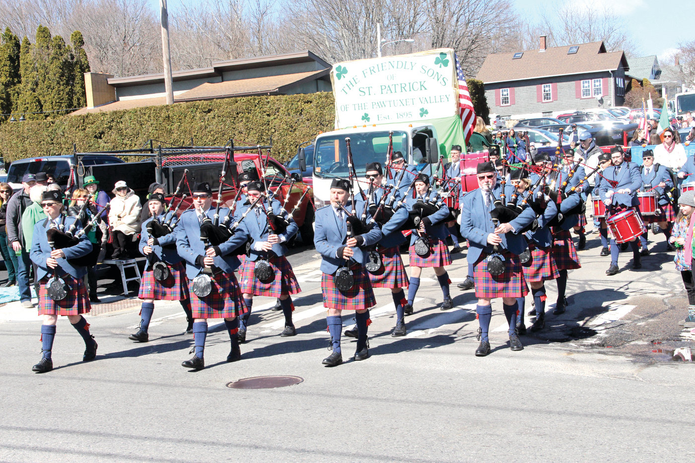 NOW THAT'S SOMETHING TO CELEBRATE: Last year's West Warwick St. Patrick's Day Parade was blessed with sunny and unusually warm weather.