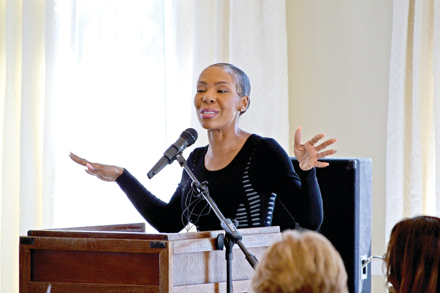 SURVIVAL STORY: Drea Kelly, ex-wife of embattled R&B superstar R. Kelly, brought her advocacy against domestic violence to Warwick on Wednesday at Warwick Country Club, as part of the 40th anniversary celebration of the Elizabeth Buffum Chace Center.