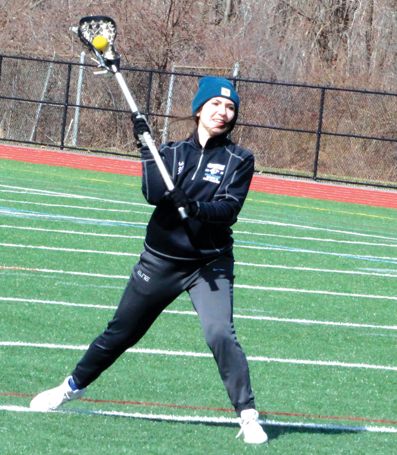 NEW YEAR: Johnston's Gabby DiRaimo during practice earlier this week.