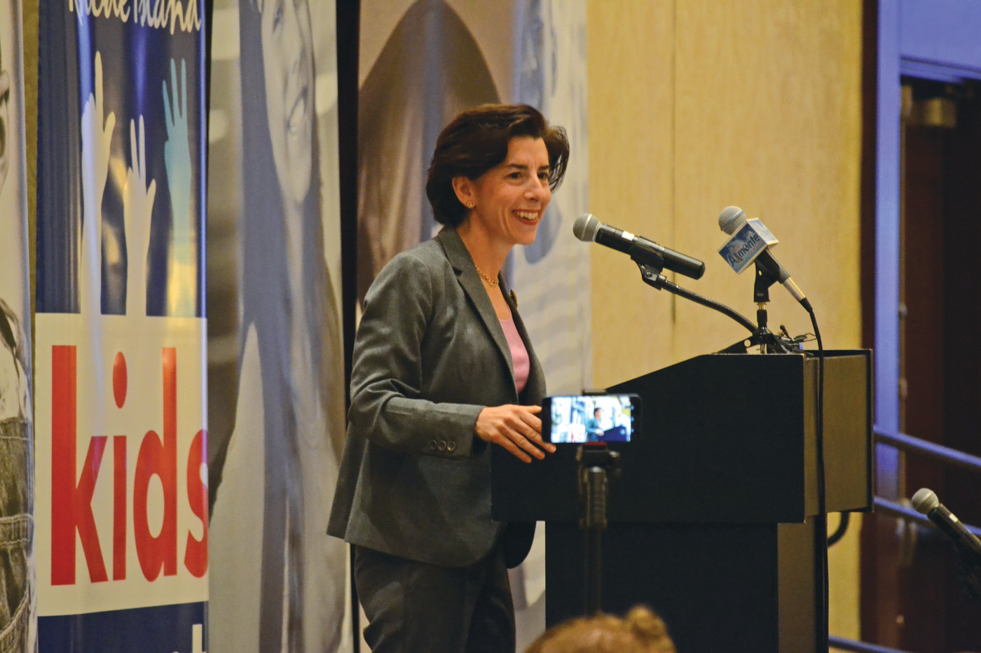 EXPANDING OPPORTUNITY: Governor Gina Raimondo had a clear message during her remarks on Monday: pass universal Pre-K for all kids in Rhode Island.