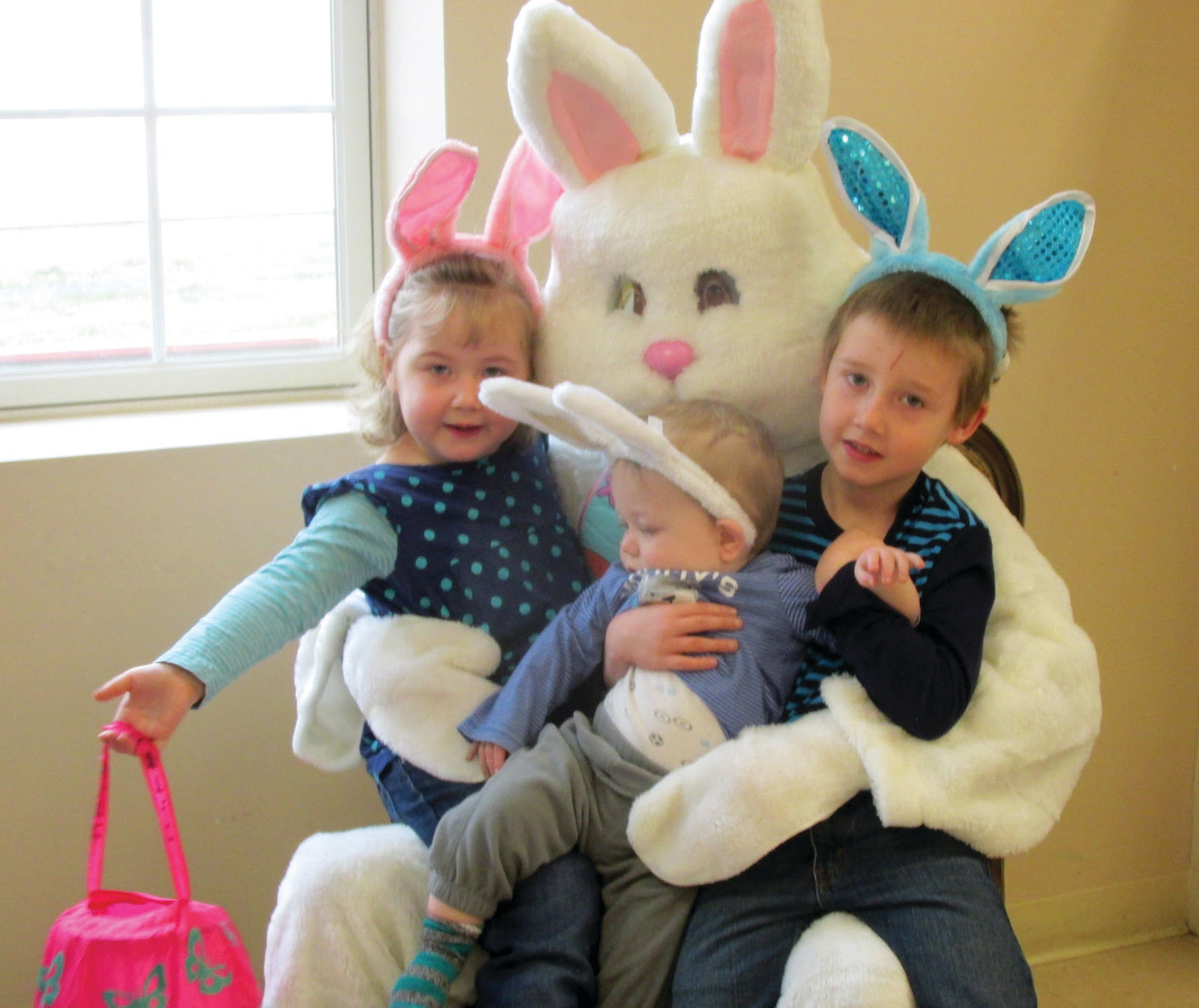 "EAR TO EAR: Scenes like this will be commonplace Saturday morning inside the Johnston Senior Center as Citizens Bank presents its annual ""Breakfast with the Easter Bunny,"" which is coordinated by the Johnston Parks and Recreation Department."