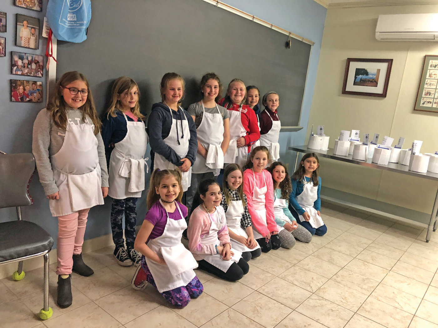 COOKIES FOR A CAUSE: The members of Warwick Girl Scout Troop 513 donated their cookie money to buy a goat for Haiti villagers. Pictured are Ryleigh Caruso, Maddy Scott, Jadyn Joyce, Addison Riess, Riley McLaughlin, Talia Booth, Molly LaTour, Aubrey Jessop, Grace Flodin, Lena Morrison, Jane Fontaine, Emma Arena and Abby Caruso. Not pictured is Kaydence Quenga.
