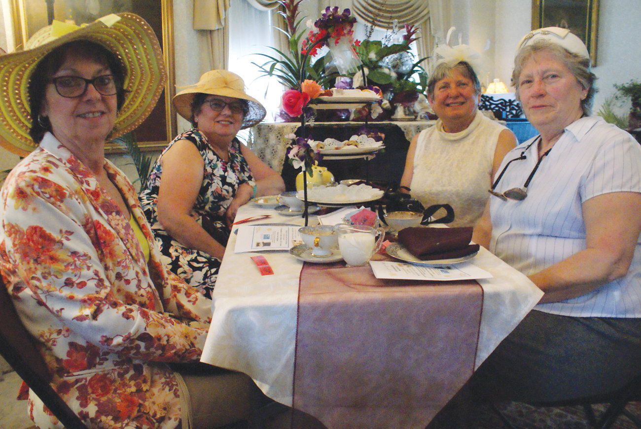 GROUP OF FRIENDS: Jeanne P., Pat Moorhead, Marcia Handcock and Gail O'Brien participated in this year's Victorian Tea.