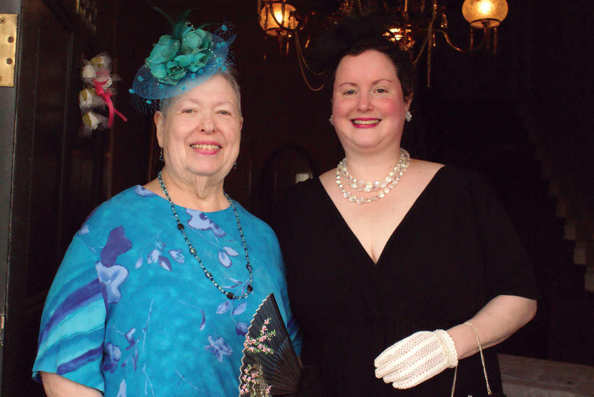 DRESSED FOR THE OCCASION: Roberta Schwartz and her daughter, Sabrina Calvert, dressed up for this year's Victorian Tea.