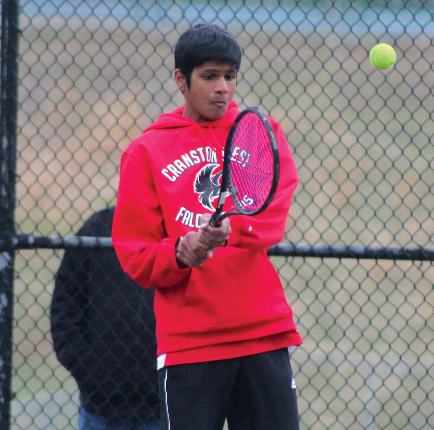 RETURN FIRE: West's Ajay Chandrasekaran returns a shot.