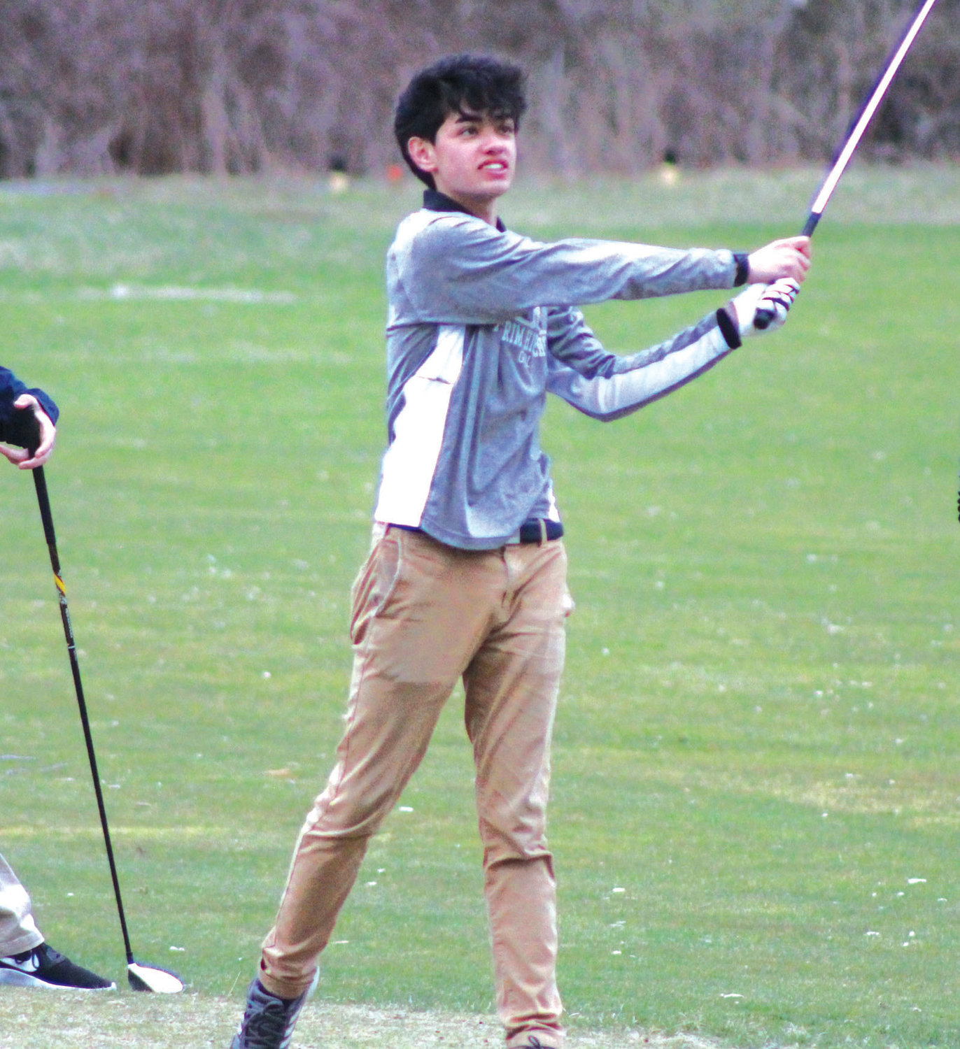 ON THE FAIRWAY: Pilgrim's Michael Bartholomew.
