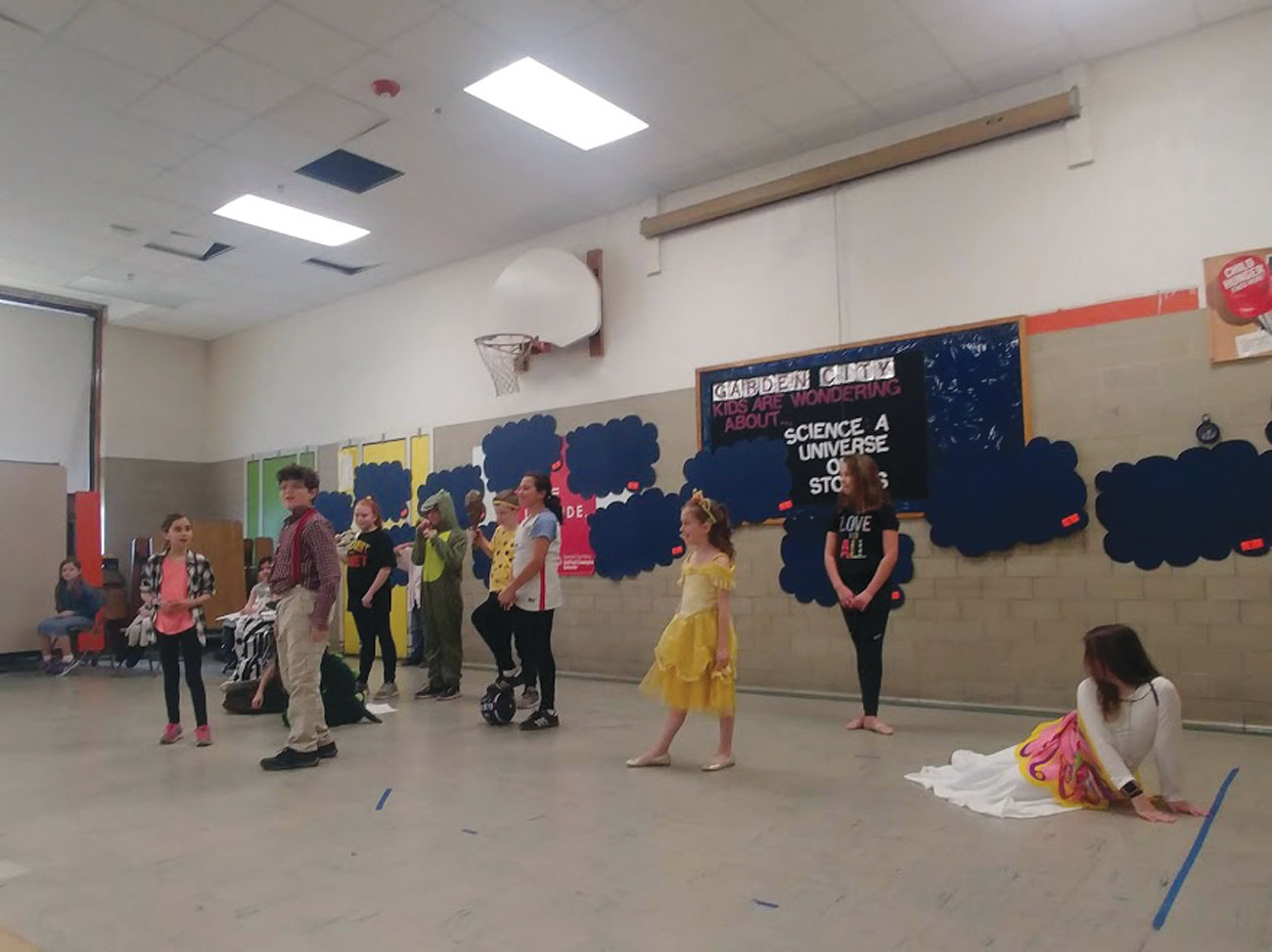 DEBUT PERFORMANCE: A group of Garden City Elementary School students recently showcased their theatrical skills, performing a show they'd created themselves during the after school theater program at the school. The students worked with Jordan Butterfield from Trinity Rep during their time in the program.