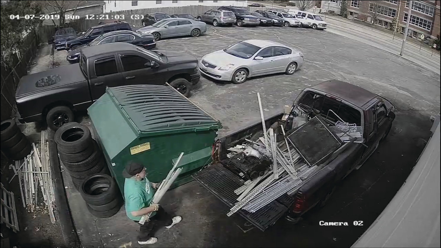 AUTO PARTS PIRATE: This image, taken from surveillance footage at Park Avenue Auto Services, shows a man wanted in connection with the theft of more than $2,000 in auto parts and metal items.