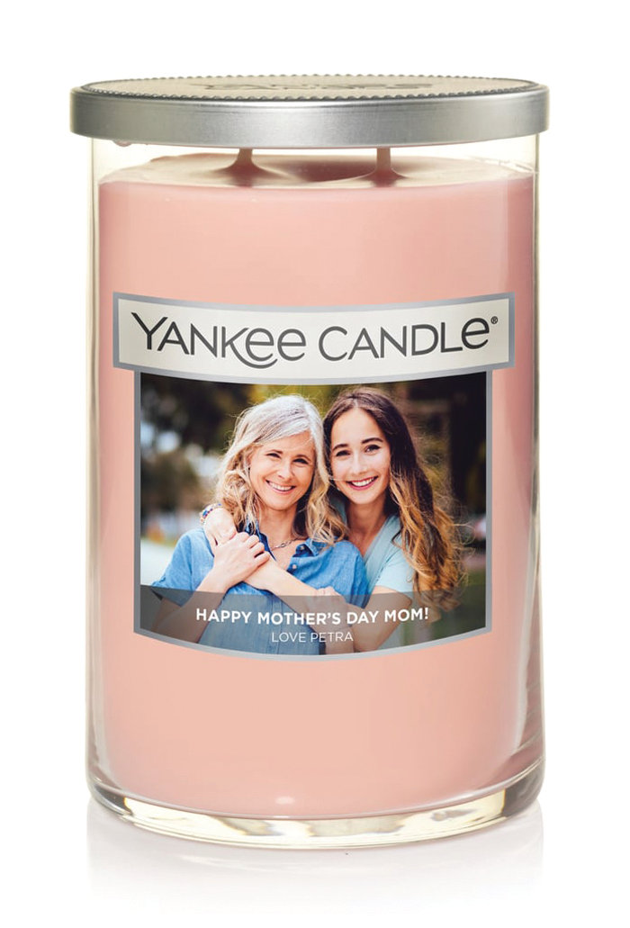 Popular Mother's Day gifts include Yankee Candle's personalized photo candle, engraved jewelry from Providence Diamond Company and the monogrammed tote from L.L. Bean.