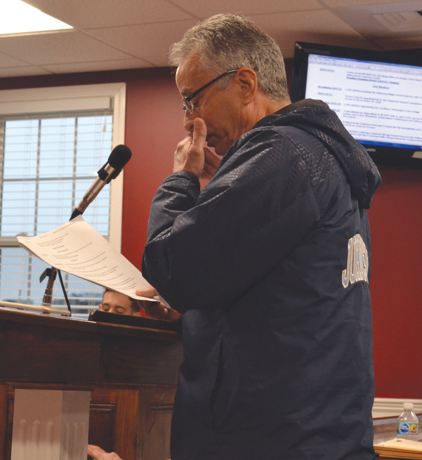 'SHE CARED': Robert LaFazia, who was installed as the new School Committee chair Tuesday, spoke glowingly of his predecessor and dear friend, Janice Mele, during Monday's Town Council meeting. Mele passed away last month at 69.
