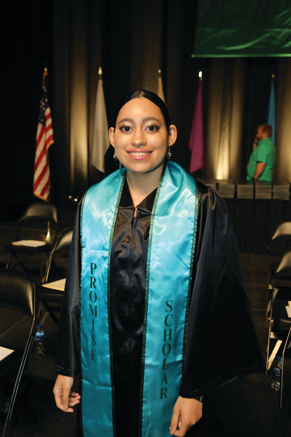 PROMISING FUTURE: Alyze Brito, a Cranston High School West graduate, was among the CCRI graduates who earned their degree through the Rhode Island Promise scholarship program.